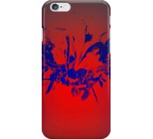 Flower - Red and blue iPhone Case/Skin