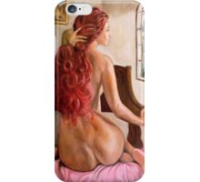 woman of red hair iPhone Case/Skin