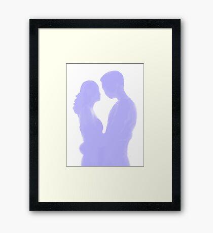 a lasting moment ... (eternal kiss) Framed Print