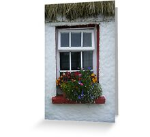 Window of thatched cottage Greeting Card