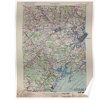 Portland, Maine Quadrangle 1914: USGS Topographical Map - Strict Cleanup, Blemishes Maintained Poster