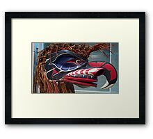 Masks Of The World Framed Print
