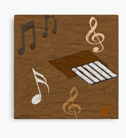Music In  The Sand  Canvas Print