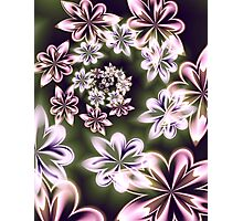 Flowers in Neon Photographic Print