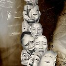 japanese dance mask by coni