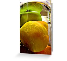 Fruit Underwater Greeting Card