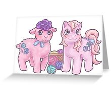 Baby Fleecey and Baby Woolly Greeting Card