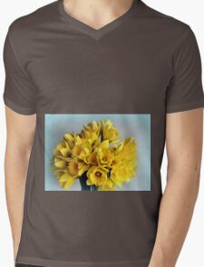 Mini Daffodil Delight Mens V-Neck T-Shirt