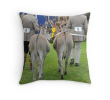 Peebles Show Donkeys Throw Pillow