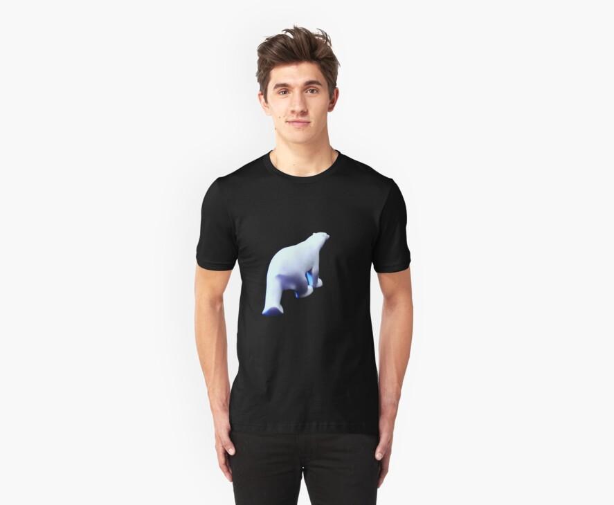 Vanishing Polar Bear (T-shirt) by Barbara Morrison