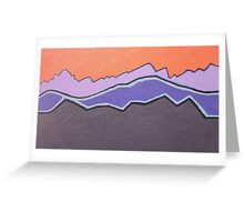 Las Vegas Mountains Greeting Card