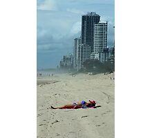 Sunbathing, Surfers Paradise, Qld Australia  Photographic Print