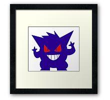Gengar shadow Framed Print