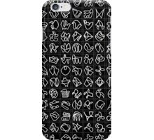 Practice grid - square - black iPhone Case/Skin