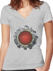 FIRE RING Women's Fitted V-Neck T-Shirt