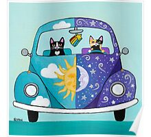Sunny & Luna Go For A Drive Poster