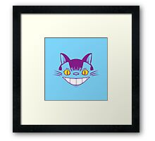 The Cheshire Cat Bus Framed Print