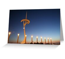 Montjuic Communications Tower  Greeting Card