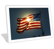 Sun & American Flag (2) Laptop Skin