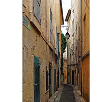 A Narrow Street in Aix-en- Provence, France Photographic Print