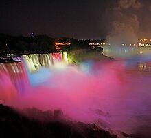 Niagara Falls at Night by artbylisa