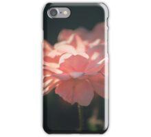 Tender pink rose on dark blurred background iPhone Case/Skin