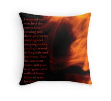 She and the Sun Throw Pillow