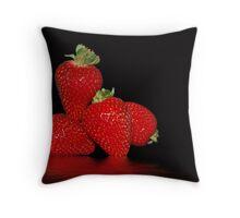 Strawberry Mountain Throw Pillow