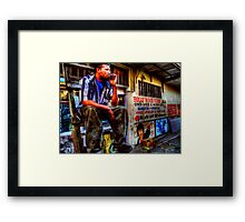 the wall artist Framed Print