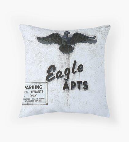 Eagle Apartments Throw Pillow
