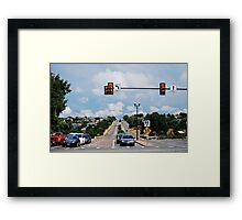 Red Light....  STOP! Framed Print