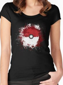 Pokeball Splat Women's Fitted Scoop T-Shirt