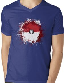 Pokeball Splat Mens V-Neck T-Shirt