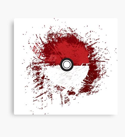 Pokeball Splat Canvas Print