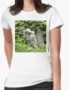 Don't blink, don't look away! Womens Fitted T-Shirt