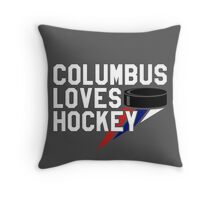 Columbus Loves Hockey Throw Pillow