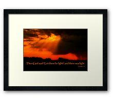 """And God Spoke"" Framed Print"