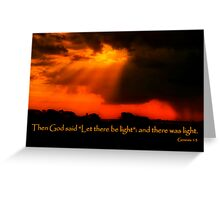 """And God Spoke"" Greeting Card"