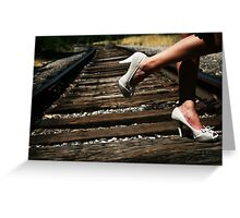 On the Wrong Side of the Tracks Greeting Card