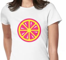Grapefruit slice Womens Fitted T-Shirt