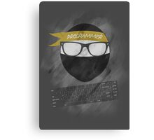 programmer ninja Canvas Print