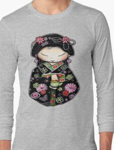 Little Green Teapot for colour  Long Sleeve T-Shirt