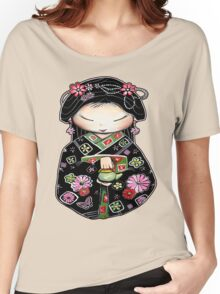 Little Green Teapot for colour  Women's Relaxed Fit T-Shirt