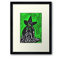 THE MELTING WICKED WITCH  Framed Print