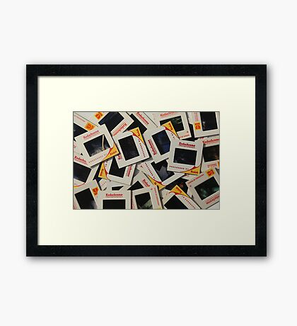 I love my slides.............. Framed Print