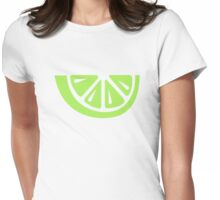 Lime slice Womens Fitted T-Shirt