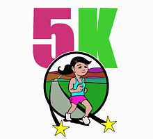 5k runner girl Womens Fitted T-Shirt