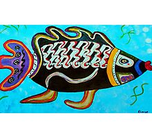 """BANDIT - the fish that """"resurfaced"""" from the flames Photographic Print"""