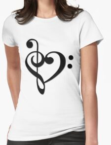 Musical Valentine Womens Fitted T-Shirt
