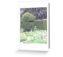 Hedge head Greeting Card